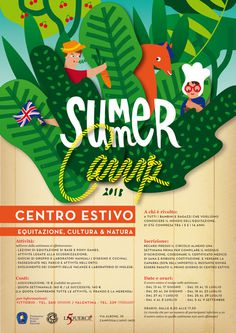 SUMMER Camp 2013 on Behance #colors #graphic #flyer #summer