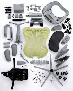 Deconstructed Herman Miller Mirra Chair | Doobybrain.com #miller #mirra #chair #design #usa #herman #deconstructed