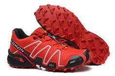 Mens Salomon Speedcross 3 Outdoor Athletic Running Sports Shoe red black