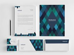 Diamonds Stationery Pack. Download here: http://graphicriver.net/item/diamonds-stationery-pack/7003580?ref=abradesign #branding #stationery