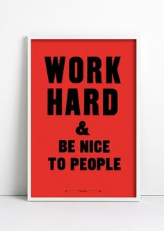 ANTHONY BURRILL - WORK HARD RED #nice #people #be #hard #to #work