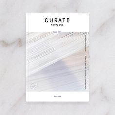 Curate Magazine Issue 5: Process (Cover) - www.curatemag.co #Editorial #Magazine #Cover #Design #Mag