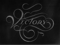 Victory #typography