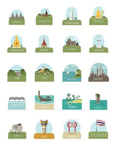 Iconic landmarks of Thailand #vector #city #design #icons #landmarks #thai #thailand #graphics