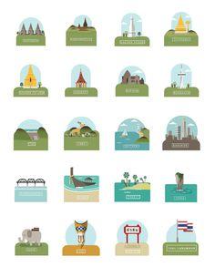 Iconic landmarks of Thailand