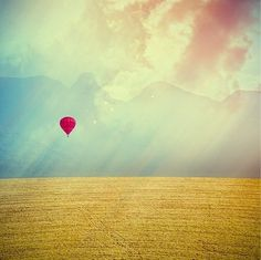 oh, hello friend: you are loved. #hot #air #balloon #landscape