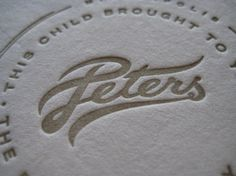 Peters Logo #relief #wordmark #typography