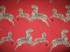 Zebra wallpaper designed in 1945 by Franco/Flora... - Covenger & Kester #animal #pattern