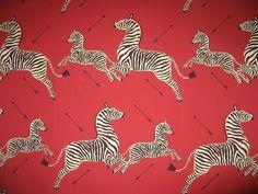 Zebra wallpaper designed in 1945 by Franco/Flora... - Covenger & Kester #animal #pattern