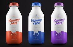 Concept: Yummy Milk #packaging #milk #bottle