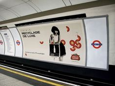 Stella Artois Recyclage de Luxe | The Inspiration Room #recyclage #underground #campaign #integrated #print #de #brand #csr #luxe