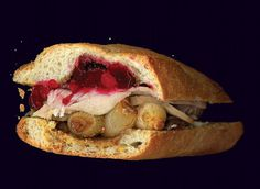 Turkey and Onion Sandwich #photocopy #photography #food