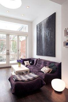 petit papier purple sofa #interior #design #decor #deco #decoration