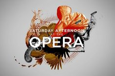 Saturday Afternoon at the Opera | Flickr - Photo Sharing! #type #illustration