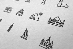 Touristic Line Icon Design Set by Yoon J #line #icon #touristic #design #graphic