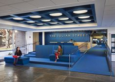 Princeton University Julian Street Library by Joel Sanders #blue #colors #architecture #interiors