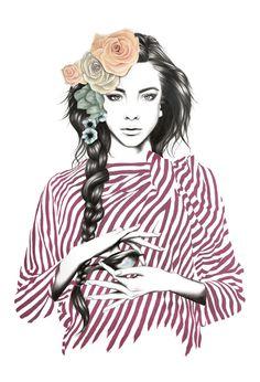 Stunning Portraits by Amanda Mocci #inspiration #illustration #portrait