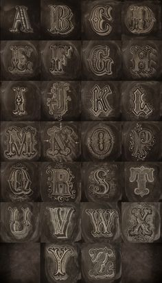 Chalk Alphabet #calligraphy #type #graphic