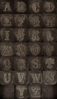 Chalk Alphabet #calligraphy #type #graphic