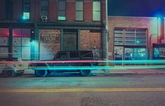 Electric Photographs of New York Cars