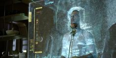 Luma Pictures' Prometheus Holograph #tech #user #prometheus #interface #space #physical #scifi #particles #gui