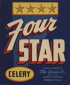 All sizes | Four Star | Flickr Photo Sharing! #script #packaging #block #vintage #3d #typography