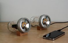 audioJar - SARAH PEASE DESIGN #jar #speakers #risd #mason