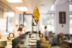 Oxlot 9 restaurant branding gold lettering #branding #fish #restaurant #identity #gold #oxlot #logo #foil