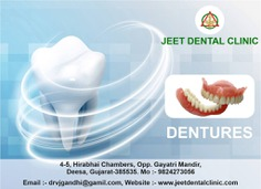 Best dental clinic service in deesa If you are self-conscious about missing teeth, struggling with pronunciation or chewing difficulties, dentures are a great option. Call at +91 9824273056 or visit us at jeetdentalclinic.com to book a Appointment with us. deesa #dentures #dental #teeth #dr #Implants