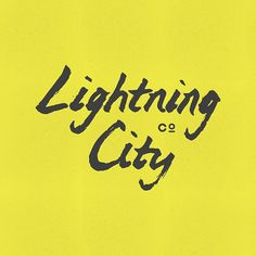 Lightning City by http:bravepeople.co #lettering #city #logo #people #illustration #lightning #identity #drawn #type #brave #hand #typography
