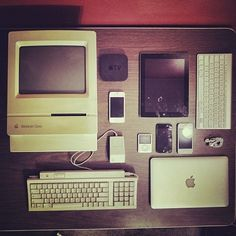 Apple Products Organized Neatly [Reader Gallery] | Cult of Mac #apple #ipad #classic #design #iphone #macintosh #mac