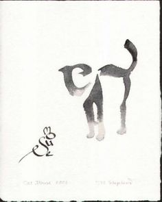 Typography #calligraphy #ink #mouse #cat #typography