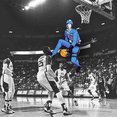 "Original Colorized : Cobra Commander laying the infamous ""Sloppy Joe"" on the American basketball team. 2003 #cobra #cobracommander #gijoe"