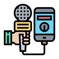 See more icon inspiration related to mass media, electronics, communications, information, microphone, new, communication, phone and mobile on Flaticon.
