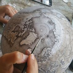 #globes #earth #world #geography #handpainted