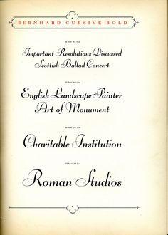 Bernhard Cursive Bold type specimen
