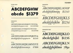 Daily Type Specimen | Another multi-font specimen page, this one... #typography