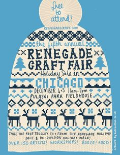 renegade holiday poster #toque #poster #craft #fair #stitch #illustration