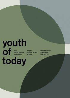 youth of today at cbgb, 1987 - swissted #print #design #graphic #poster