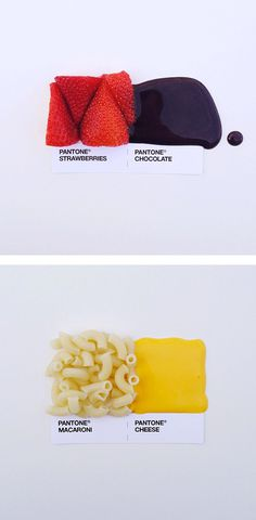 Pantone Food Pairings by David Schwen | Inspiration Grid | Design Inspiration #sdfdf