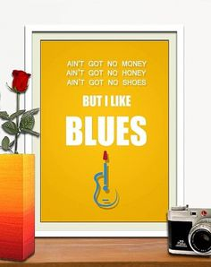 I like blues 11 x 14 poster by HelloToYouAll on Etsy #prints #print #motivational #art #poster