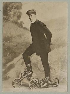 Roller skating, Nov. 8, 1910 #vintage #1910 #roller skating