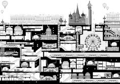 Atira Ariffin. M.Arch Thesis // Moscow Metro - 0 provocation section