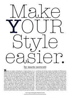 RaquelZimmermannbyMarioSorrentiMakeYourStyleEasierVogueItaliaMarch20111.jpg 546×745 pixels #typography