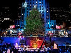 2 New York ceremony with christmas tree #christmas #trees #art #tree