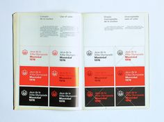 1976 Montreal Olympics Graphics Manual #1970s #vintage #olympics #1976 #guide #graphics manual