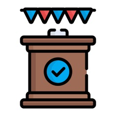 See more icon inspiration related to podium, pedestal, tribune, conference, presentation, education, speech, networking and business on Flaticon.