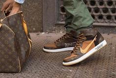 Custom Louis Vuitton x OFF–WHITE x Nike Air Jordan 1