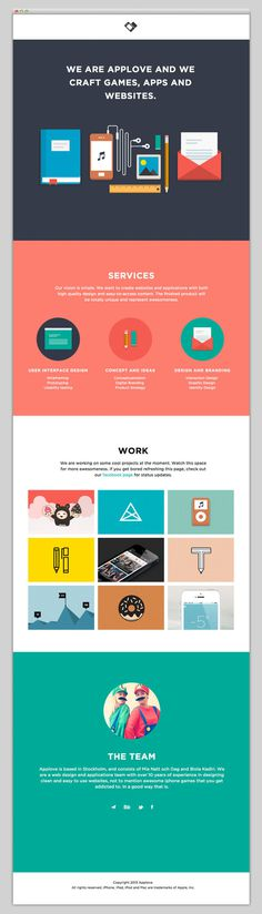 Applove #layout #website #web #web design #color