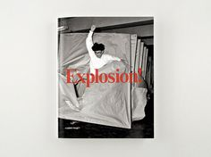Explosion! Painting as Action. | Stockholm Design Lab #expolosion #white #serif #book #black #cover #photography #and #typography